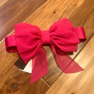 NWT H&M PINK OVERSIZED BOW DETAIL ELASTIC BELT